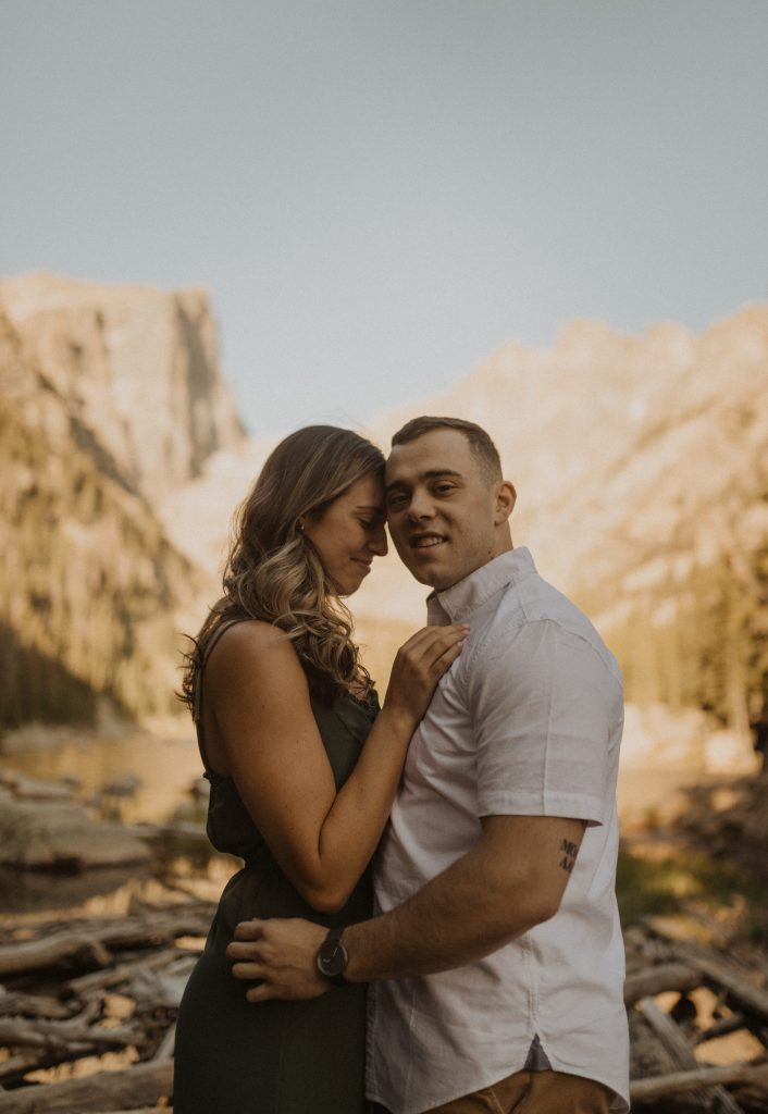 Dream Lake Engagement shoot in Rocky Mountain National Park