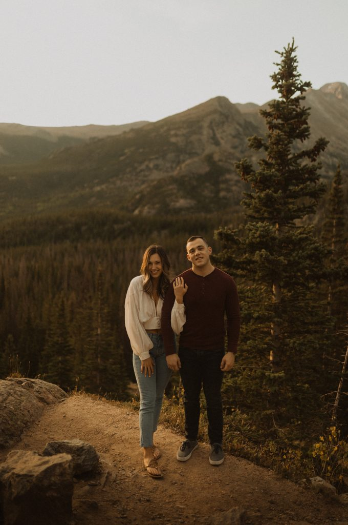 Engagement photos location for adventurous couples