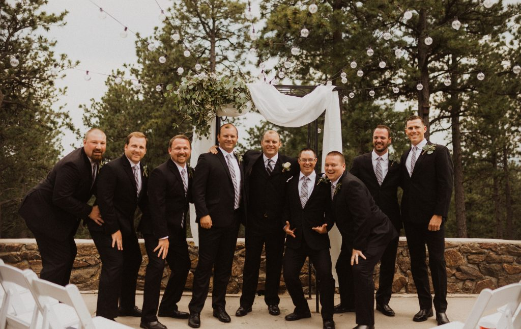 Bridal Party pictures at Boettcher Mansion in Colorado