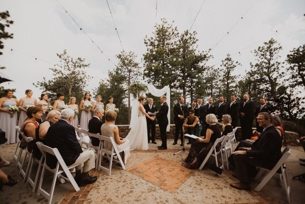 Lookout Mountain wedding ceremony in Colorado