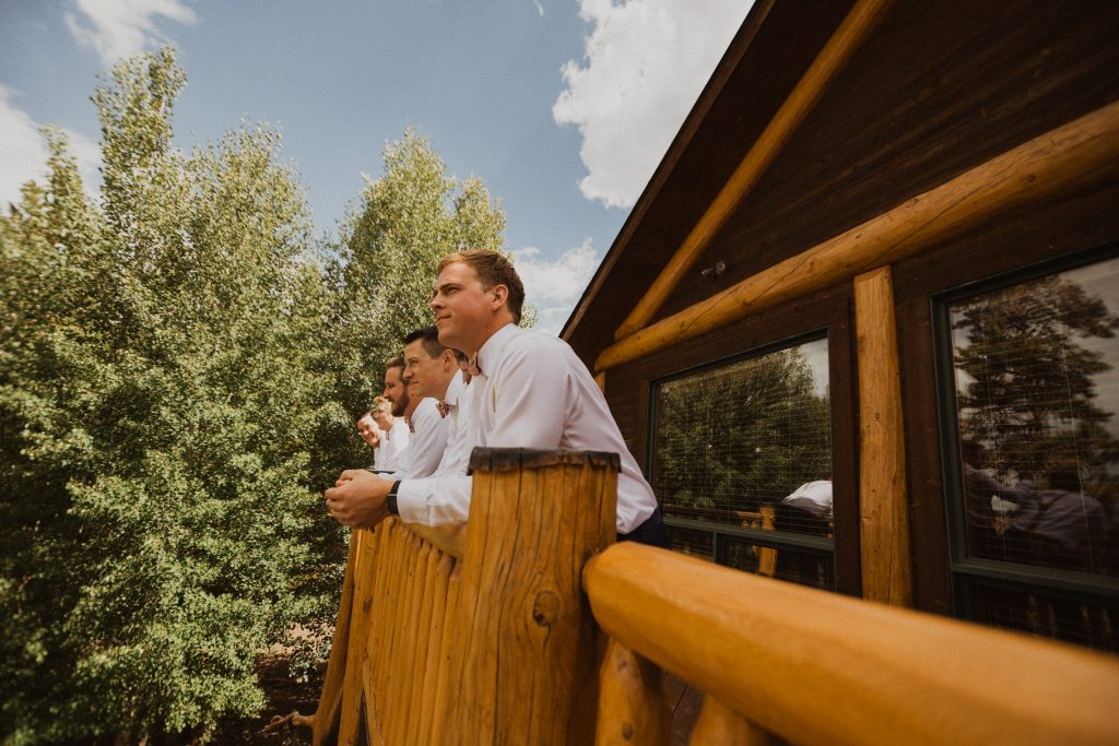 Groomsmen in the mountains of Colorado